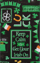 Chalkboard St Patricks Day Vinyl Flannel Back Tablelcloth 60 Round Irish On