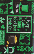 Chalkboard St Patricks Day Vinyl Flannel Back Tablelcloth 52 x 70 Oblong Irish On