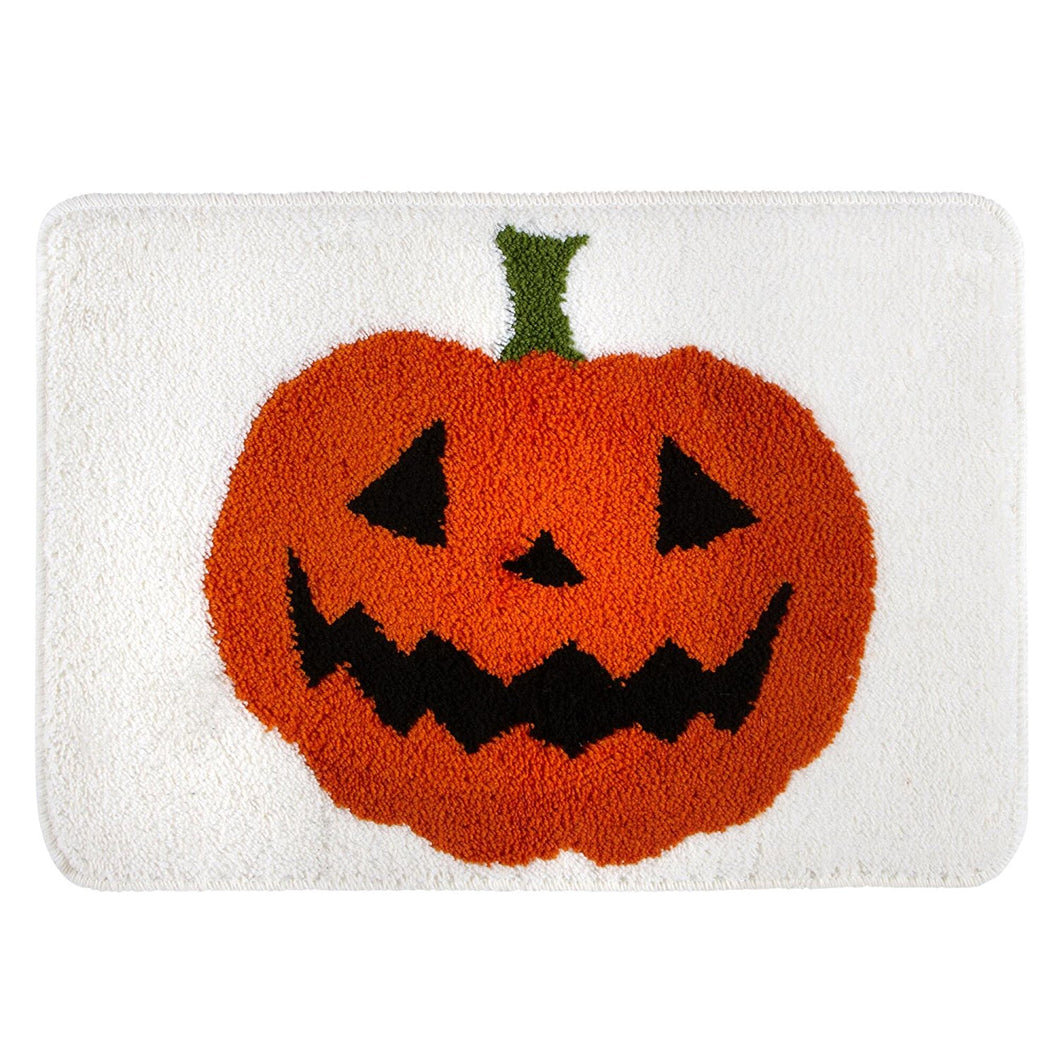 Halloween Plush Bath Rug Tossed Pumpkins