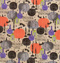 "Tablecloth Elrene Vinyl Flannel Backed 60"" Rd Halloween Candelabra Poison Beige"