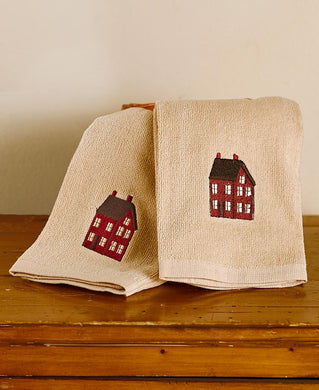 Saltbox Set of 2 Hand Towels Home Sweet Home Country
