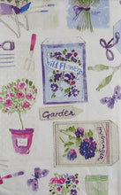 How Does Your Garden Grow Flowers Vinyl Flannel Backed Tablecloth 60 Round