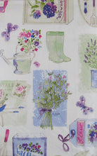 How Does Your Garden Grow Flowers Vinyl Flannel Backed Tablecloth 52 x 70 Oblong