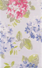 Hydrangeas on Purple Vinyl Flannel Back Tablecloth 52 x 70 Oblong Flowers