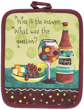 Towels Oven Mitt Potholder 4 Piece Set Wine is the Answer What Was the Question