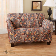Kings Camo Woodland Shadow Stretch Loveseat Slipcover Camouflage
