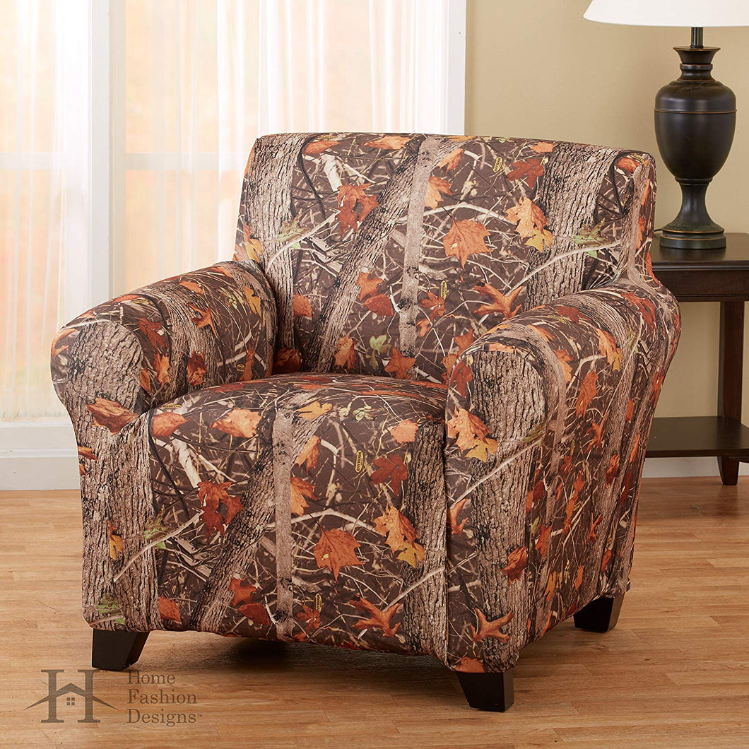 Kings Camo Woodland Shadow Stretch Armchair Slipcover Camouflage