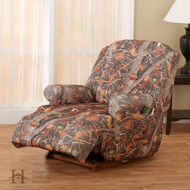 Kings Camo Woodland Shadow Stretch Recliner Slipcover Camouflage