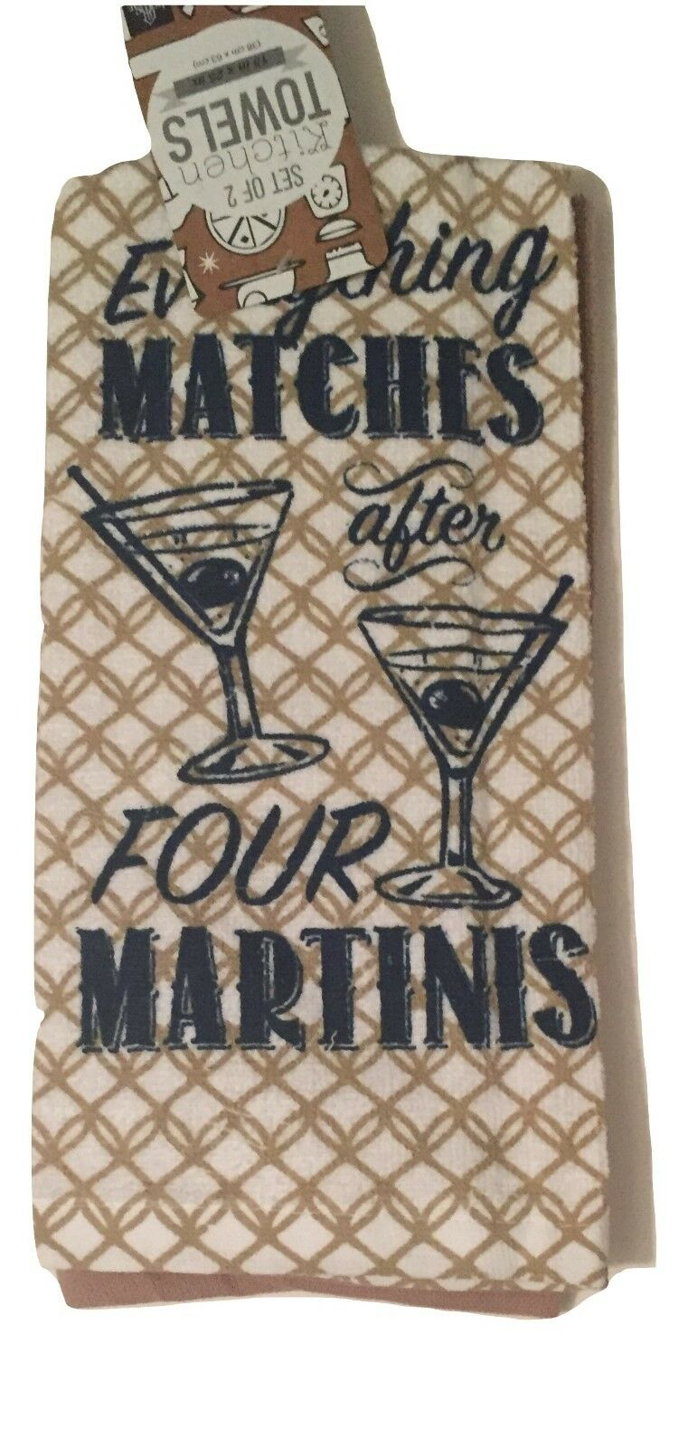 Kitchen Towels Set of 2 Everything Matches After Four Martinis