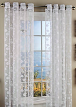Lorraine Fish Tales Grommet Panels Curtains 84L White Nautical Sea Star Set of 2