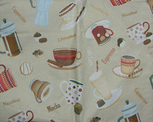Latte Mocha Coffee Espresso Java vinyl flannel back tablecloth