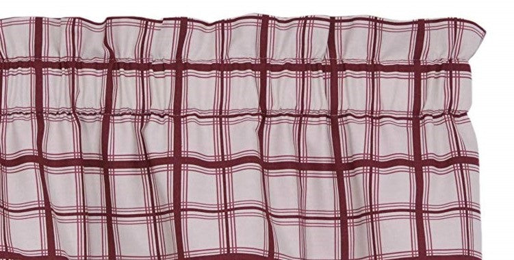 Logan Plaid Bradford Valance Red Country
