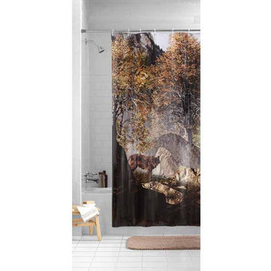 Mainstays Wilderness Wolf Photocell PEVA Shower Curtain