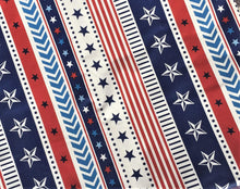 American Flag Patriotic Stars Stripes Vinyl Flannel Tablecloth 52 x 70 Oblong