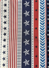 American Flag Patriotic Stars Stripes Vinyl Flannel Back Tablecloth 60 Round