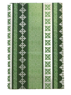 St Patricks Day Irish Celtic Knot Pattern Vinyl Flannel Tablecloth Round or Oblong