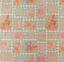 Easter Fresh Carrots Bunny Farms Vinyl Flannel Back Tablecloth 60 Round