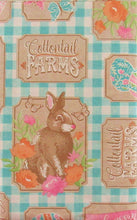 Easter Fresh Carrots Bunny Farms Vinyl Flannel Back Tablecloth 52 x 70 Oblong