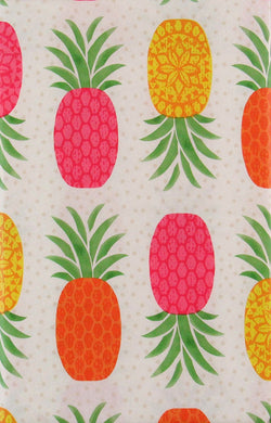 Mainstream Pineapples Vinyl Flannel Back Tablecloth