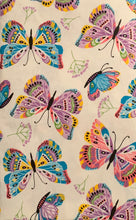 Colorful Butterflies Vinyl Flannel Back Tablecloth 52 x 70 Oblong