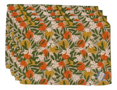 Placemats Set of 4 Oranges and Lemons Fruit