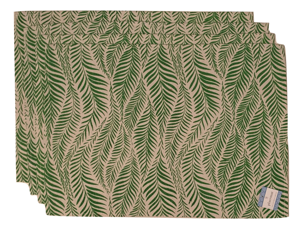 Tropical Leaves Placemats Set of 4 Green