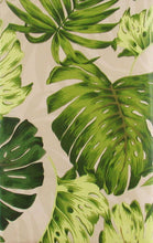 Elrene Tropical Palm Tree Leaves Exotic Greens Vinyl Flannel Tablecloth Various Sizes