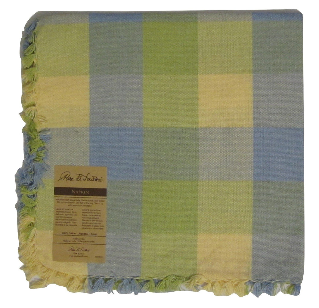 Park B Smith Potpourri Block Island Breezes Napkins Set of 4 Yellow Blue Green