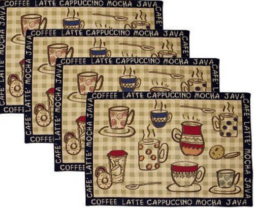 Park B Smith Cafe Latte Coffee Tapestry Placemats Set of 4