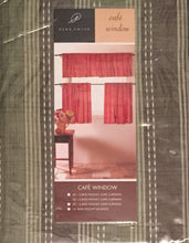Park Smith Banyon Meadowood Celadon 36L Tiers Kitchen Curtains