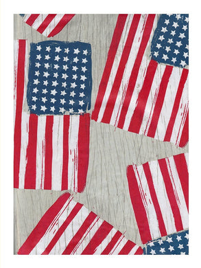 Elrene American Flag Vinyl Flannel Tablecloth Assorted Sizes