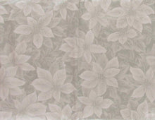 Poinsettias Holly Berries Vinyl Flannel Tablecloth 52x70 Oblong Christmas Silver