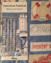 Popular Bath American Nautical Blue Fabric Shower Curtain