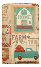 Pumpkin Farm to Table Fall Patchwork Vinyl Tablecloth Round or Oblong