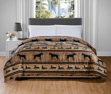 Ducks and Dogs Cottage Creek Comforter Woodland Cabin