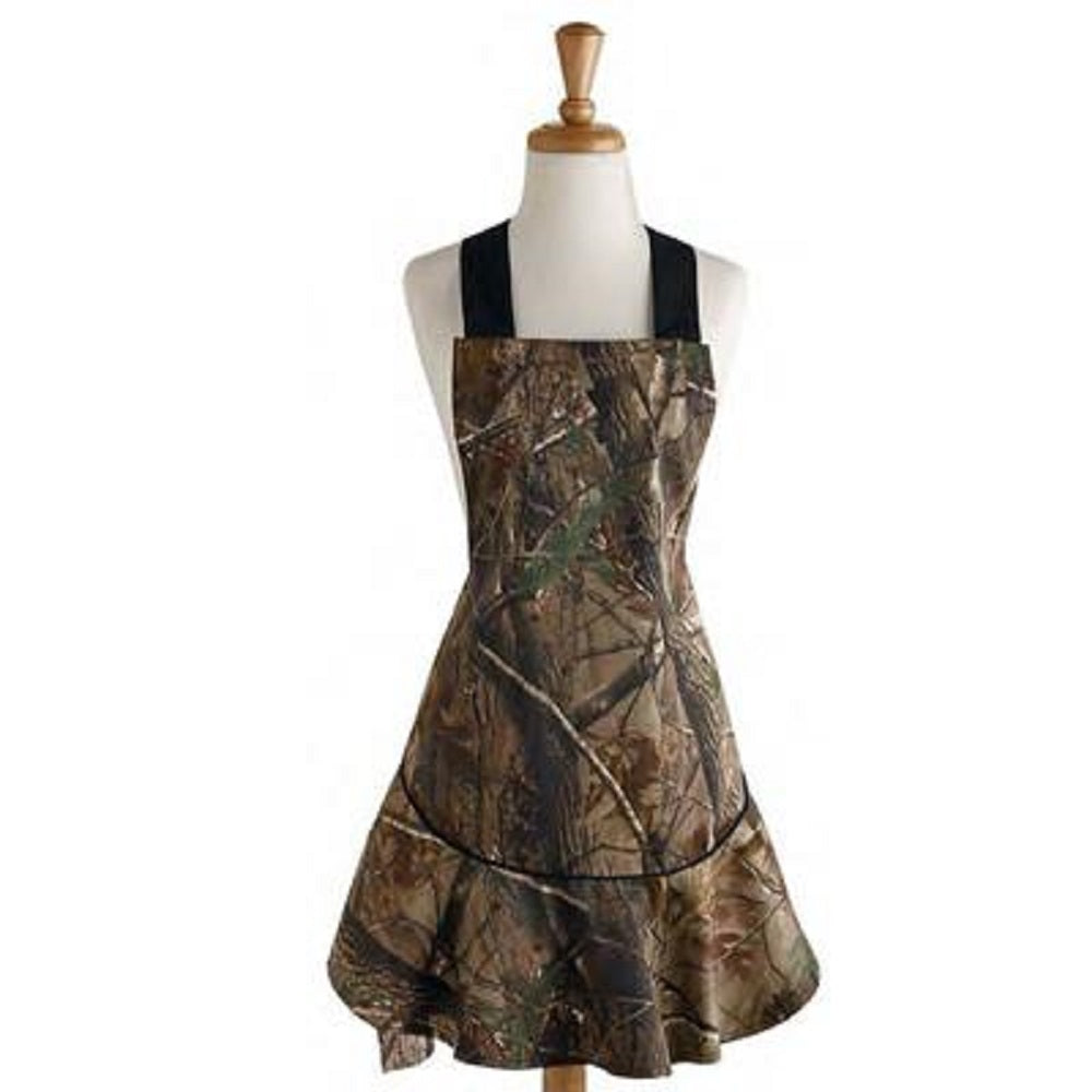 RealTree AP Hostess Apron Camo Camping BBQ Cotton Large Front Pocket