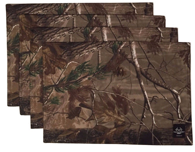 Realtree Ap Camo Camouflage Fabric Placemats Set of 4