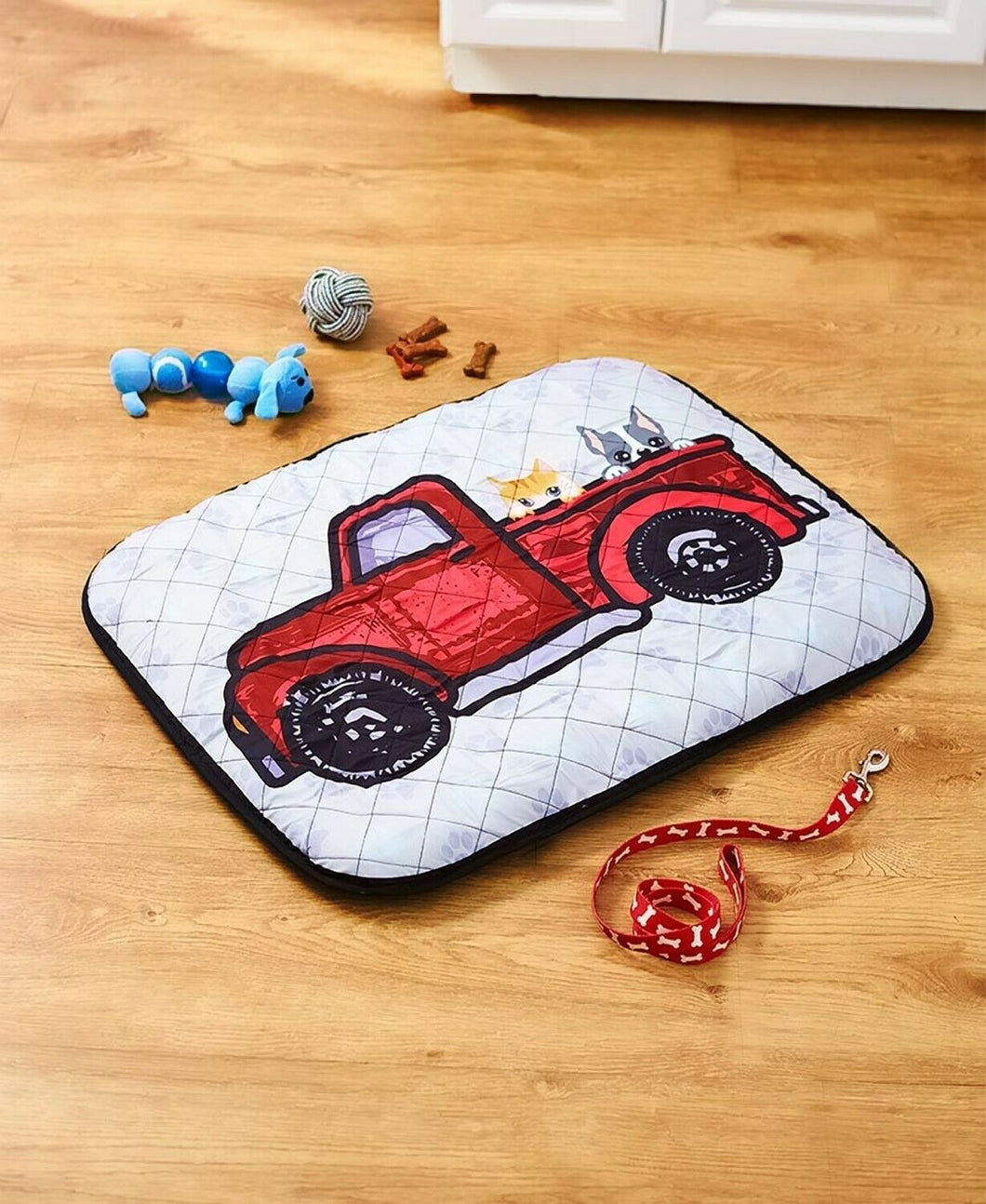 Truck Pet Bed Pickup Truck Red Dog Cat