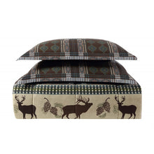 Remington Antler Ridge Deer Pinecones Wildlife 6 pc Twin Comforter Sheet Set