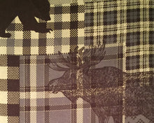 Remington Full Sheet Set Moose Bear Deer Pine Trees Woodland Cabin