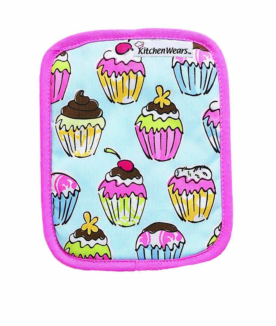 Ritz Kitchen Wears Print Cotton Potholder Cupcakes