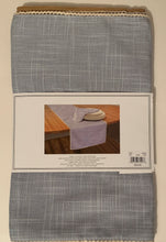 Rory Modern Southern Home Fabric Table Runner 14 x 70 Gray Crocheted Trim