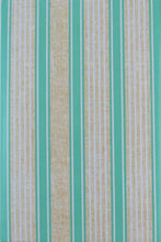 Elrene Seafoam Green Sandy Stripes Vinyl Flannel Back Tablecloth Assorted Sizes