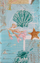 Elrene Seashells Starfish Coral Nautical Vinyl Flannel Back Tablecloth Assorted Sizes