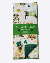 St Patricks Day Dish Drying Mat Reversible Lucky Dogs Irish Celtic Clovers