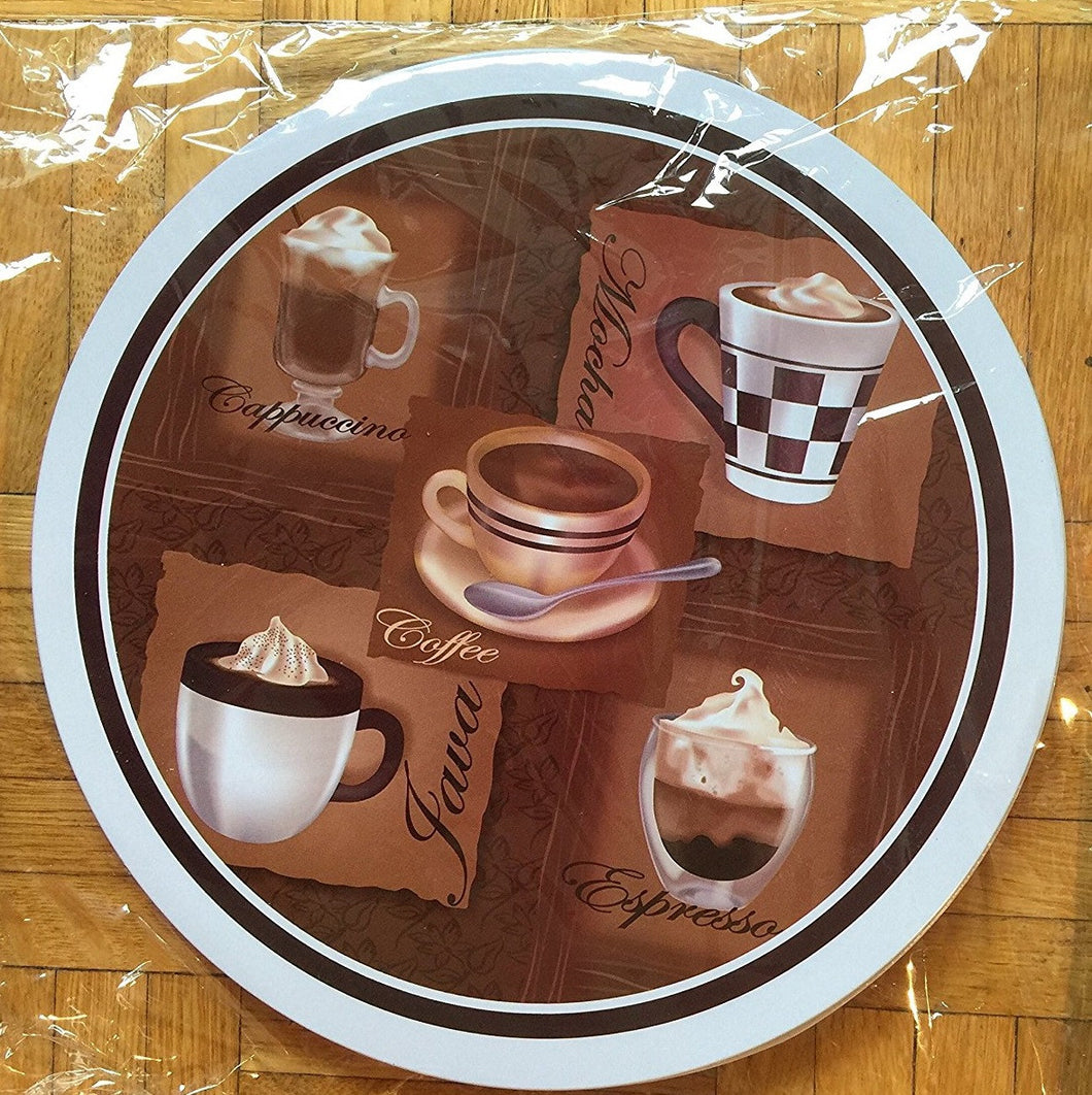 Stovetop Burner Covers Coffee Cappucino Mocha Jave Espresso Set of 2