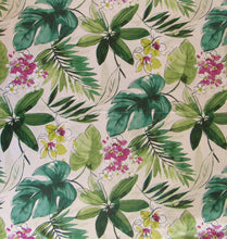 Tropical Forest Abstract Impression Vinyl Flannel Back Tablecloth 52 x 70 Oblong