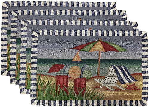 Tapestry Placemats Beach Scene Set of 4