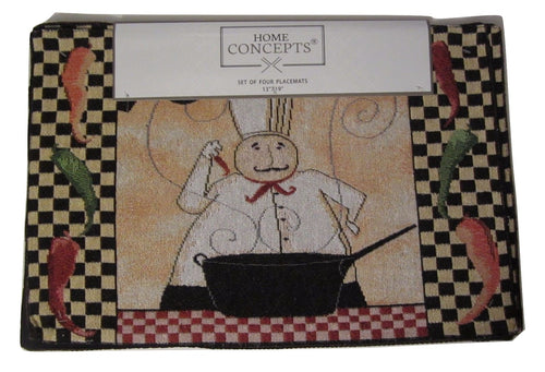Tapestry Placemats Fat Chef Peppers Set of 4