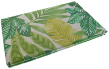 Tropical Foliage with Exotic Greens Vinyl Flannel Tablecloth 52 x 70 Oblong